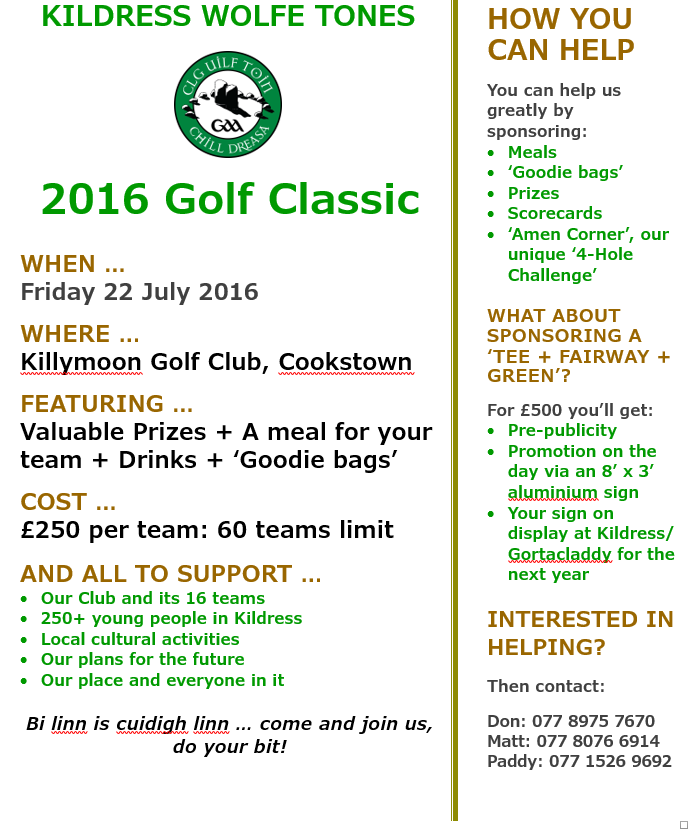 'Putting' our 2016 Golf Classic in Place